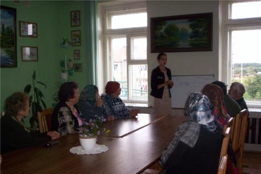 На занятии клуба «Серебряный возраст» о здоровом образе жизни и презентация новой книги в Тюрлеминской сельской библиотеке