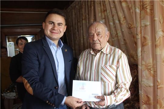 90-летний юбилей ветерана труда, труженика тыла, жителя деревни Криуши Елехина Николая Петровича