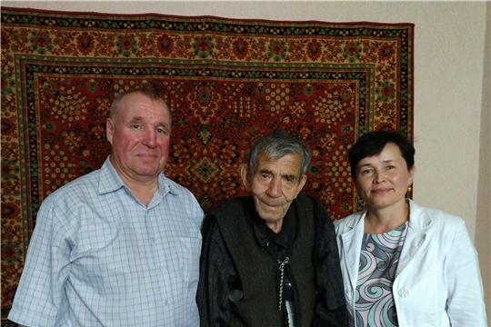 95-летний юбилей отмечает ветеран войны  Устинов Егор Гаврилович