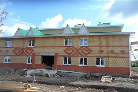 Продолжается строительство Аттиковского сельского Дома культуры