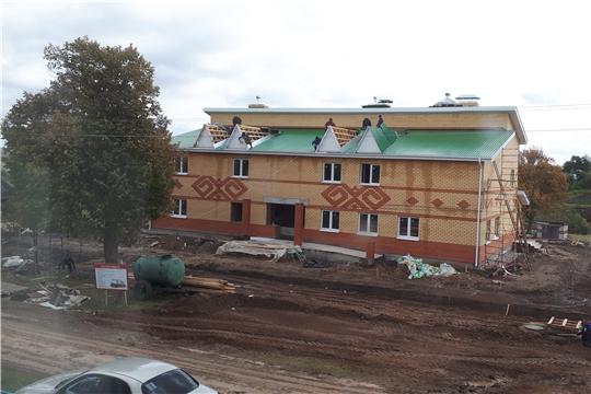 Строительство нового клуба в селе Аттиково продолжается
