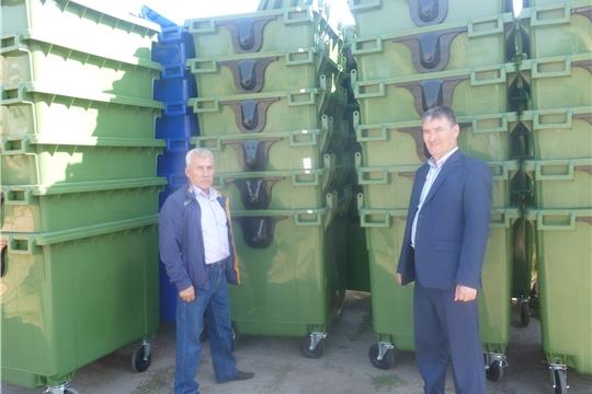 В Козловский район прибыли евроконтейнеры