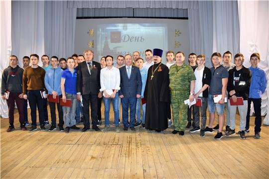 День призывника: армейскую эстафету приняли 30 красночетайских юношей