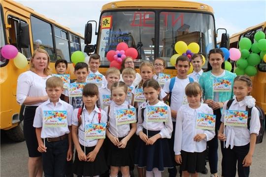 """В рамках акции """"Стань первым!"""" Красночетайская СОШ получила ключи от школьного автобуса"""