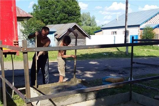 В Хозанкинском сельском поселении завершается установка контейнерных площадок