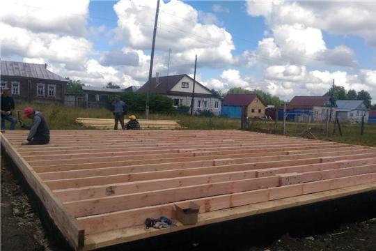 В Красночетайском районе строится одиннадцатый по счету современный модульный фельдшерско-акушерский пункт