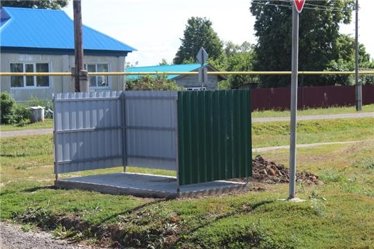 В Акчикасинском сельском поселении завершается установка контейнерных площадок