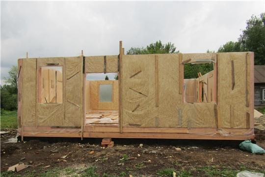 В деревне Яманы Красночетайского района строится одиннадцатый по счету современный модульный фельдшерско-акушерский пункт