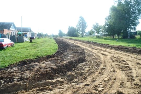 Строительство дороги в д.Осиново