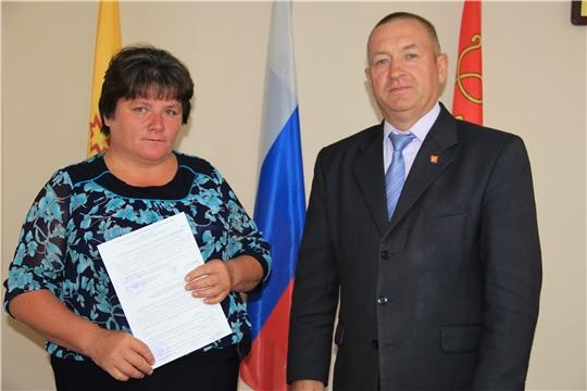 Красночетайским семьям вручены свидетельства на улучшение жилищных условий