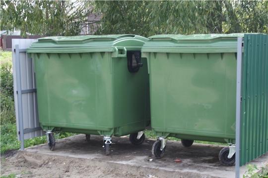 В районе ведется установка новых евроконтейнеров для сбора мусора