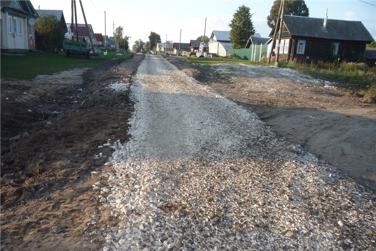 В д.Шоля по улице Центральная завершен ремонт грунтовой дороги