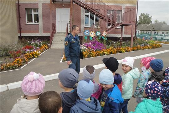Встреча с пожарным инспектором в детском саду!