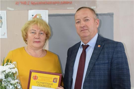 В администрации Красночетайского района стало доброй традицией чествовать работников и ветеранов, отмечающих юбилейные дни рождения