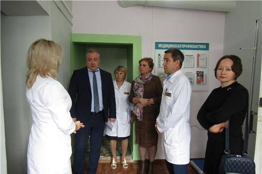 Районную больницу посетил руководитель группы по организации медицинской помощи ФГБУ «НМИЦ ПМ» Минздрава России