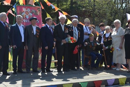 В Мариинско-Посадском районе отпраздновали 74 годовщину Победы в Великой Отечественной войне.