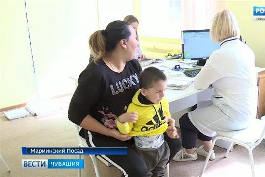Мобильная поликлиника: врачи Республиканской детской больницы приехали проконсультировать детей из Мариинского Посада  Источник: http://chgtrk.ru/news/24061