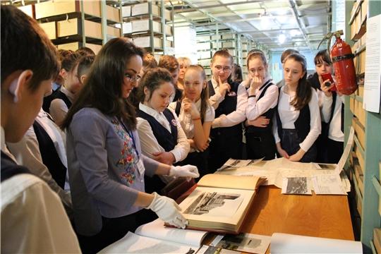Посещение Государственного архива современной истории Чувашской Республики в рамках 550-летия города Чебоксары