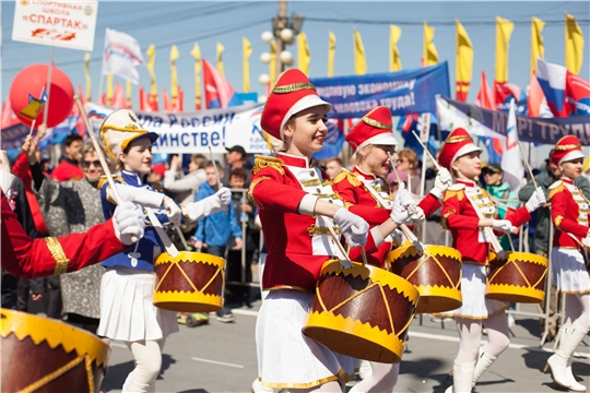 Сотрудники Минкультуры Чувашии приняли участие в праздничном первомайском шествии