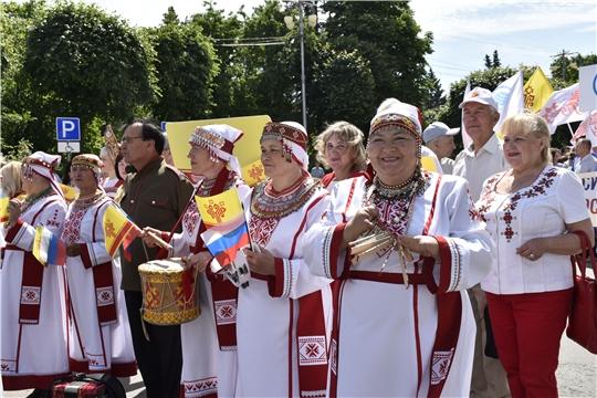 В Чебоксарах состоялся «Парад дружбы народов России»