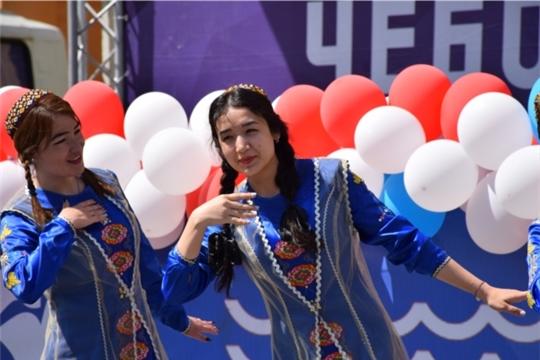 В Чебоксарах прошла Всероссийская акция «Парад дружбы народов России»