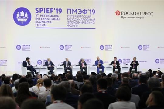 Глава Чувашской Республики Михаил Игнатьев принял участие в торжественной церемонии открытия Петербургского международного экономического форума