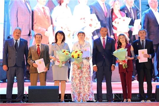На Красной площади города Чебоксары состоялось чествование лауреатов Государственных премий Чувашской Республики