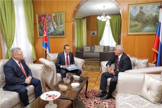 Глава Чувашии Михаил Игнатьев встретился с  Полномочным Послом Республики Куба в Российской Федерации Херардо Пеньяльвером Порталем