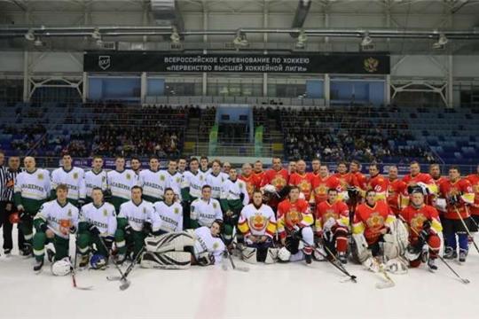 Состоялся товарищеский матч по хоккею между командой Правительства Республики и студенческой командой ЧГСХА