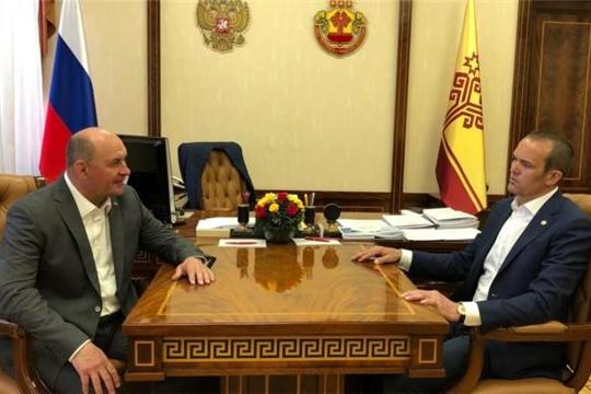 Вопросы развития АПК республики Глава Чувашии обсудил с гендиректором холдинговой компании «Ак Барс»