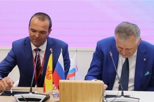 ПМЭФ-2019: Подписано соглашение о сотрудничестве между Чувашией и Ленинградской областью