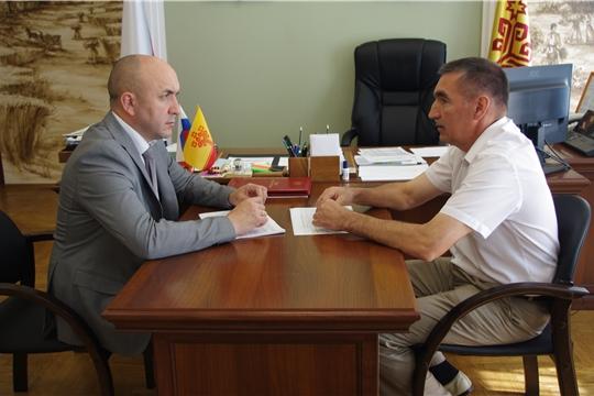 Сергей Артамонов провел рабочую встречу с руководителем Госветслужбы Республики Сергеем Скворцовым.