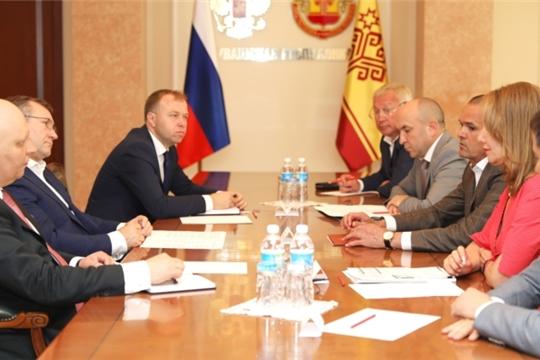 Глава Чувашии Михаил Игнатьев встретился с представителями группы компаний «МегаМикс»