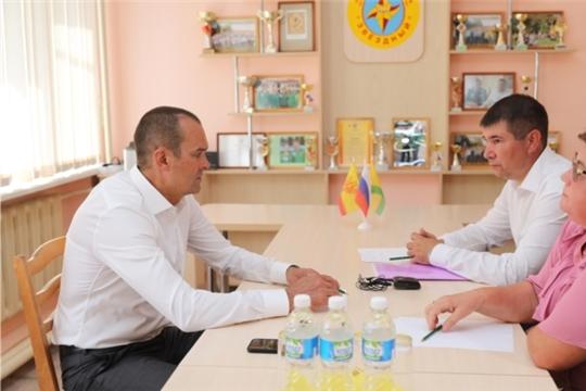 Михаил Игнатьев провел рабочую встречу с руководством Цивильского района