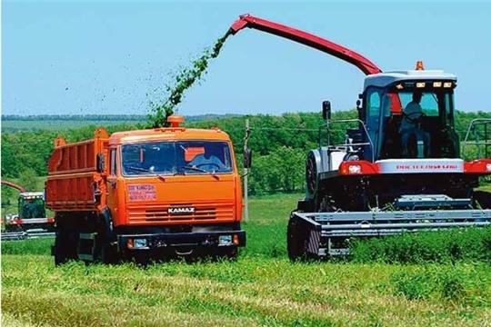 В Чувашской Республике заготовка кормов идет с превышением прошлогодних темпов