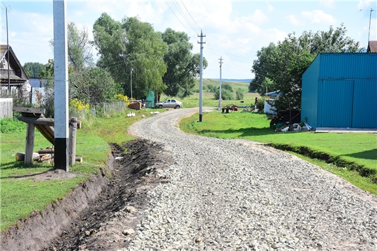 В Ибресинском районе идет реализация проектов развития сельской инфраструктуры