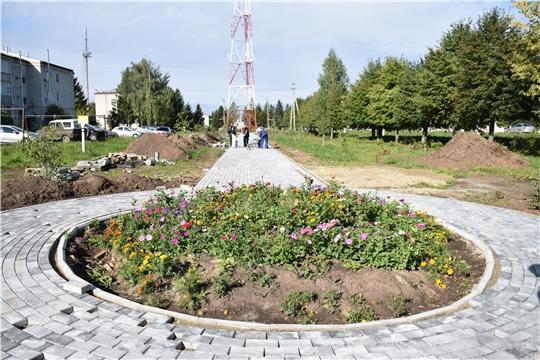 В Красночетайском районе благоустраивается парковая зона