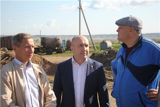 Министр сельского хозяйства Чувашской Республики Сергей Артамонов посетил с рабочим визитом Чебоксарский район
