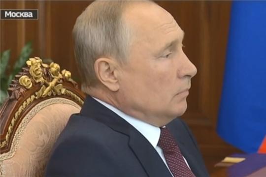 Встреча Владимира Путина с Дмитрием Патрушевым