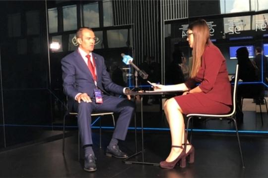 ПМЭФ-2019: Михаил Игнатьев дал интервью «Московскому комсомольцу»