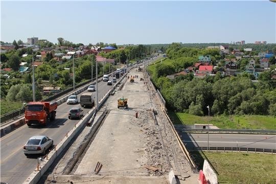 В Чебоксарах на четырех объектах ведутся работы по нацпроекту «Безопасные и качественные автомобильные дороги»