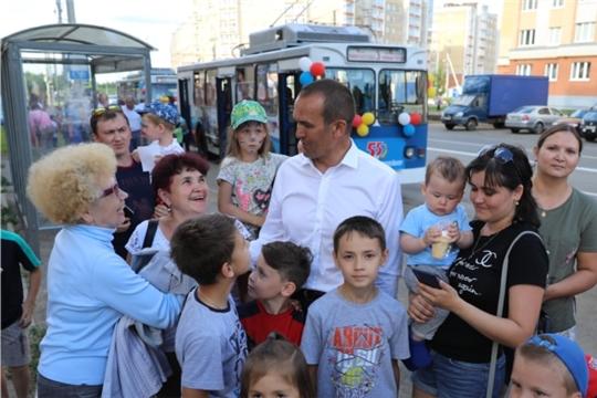В День Республики в Чебоксарах в микрорайоне «Новый город» открылась троллейбусная линия