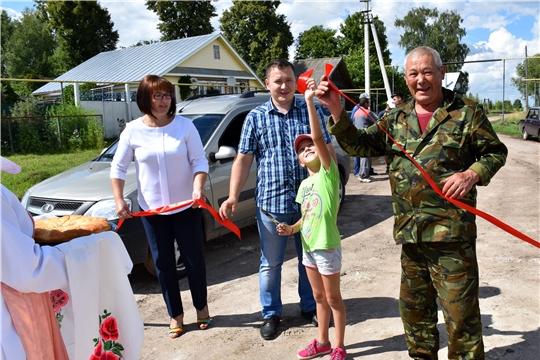 Открытие дороги в деревне Новое Чемеево по программе инициативного бюджетирования