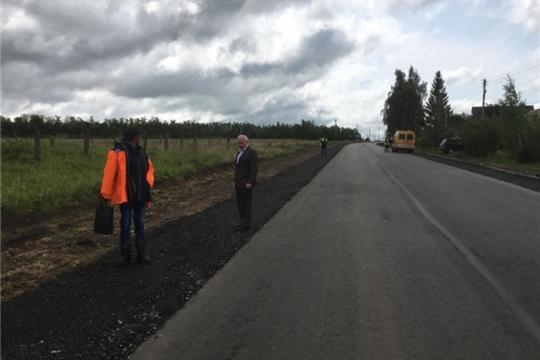 Завершены работы на объекте ремонта автомобильной дороги «Волга – Сюктерка» в Чебоксарском районе