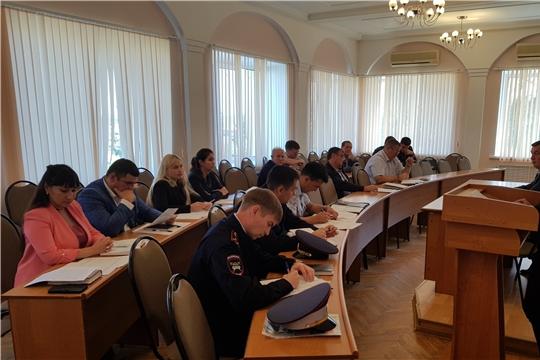 Сотрудники Минтранса Чувашии приняли участие в заседании межведомственной комиссии по обеспечению безопасности дорожного движения при администрации города Новочебоксарск
