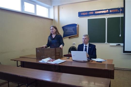 Заместитель министра труда и социальной защиты Чувашии Виктор Ковалев встретился со студентами Чебоксарского кооперативного института