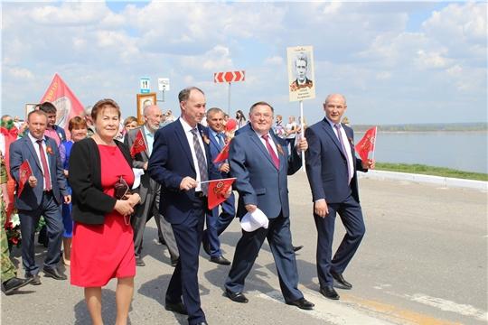 Министр труда и социальной защиты Чувашской Республики Сергей Димитриев принял участие в праздничных мероприятиях в Козловском районе