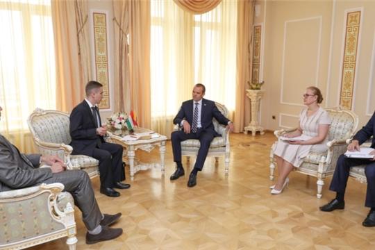 Состоялась рабочая встреча Главы Чувашии Михаила Игнатьева с Генеральным консулом Венгрии в Казани Адамом Штифтером