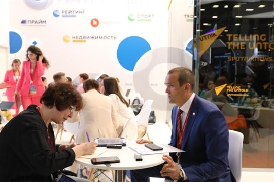 ПМЭФ-2019: Глава Чувашской Республики Михаил Игнатьев дал интервью РИА Новости