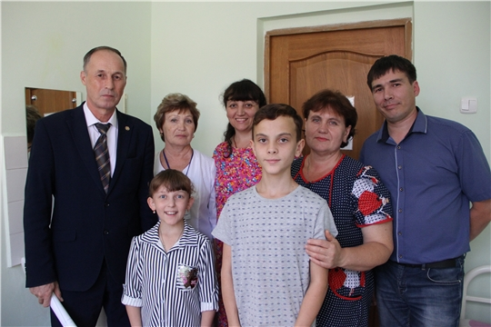 Министр Сергей Димитриев навестил детей из ДНР, проходящих реабилитацию в Реабилитационном центре для детей